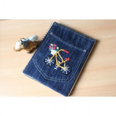 Handmade Embroidered Notebook with perfect pocket for storage