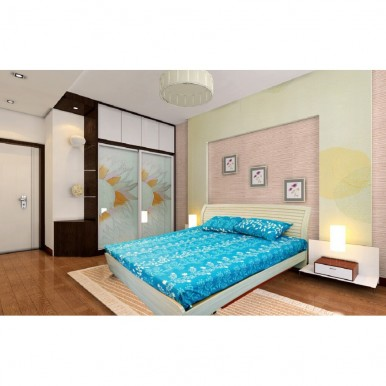 Feather printed bedsheet