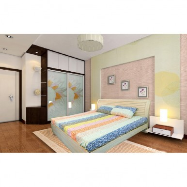 Puzzle Style Vertical Print Bedsheet
