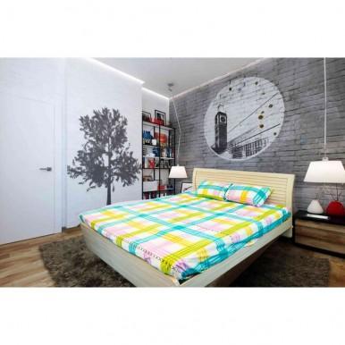 Square Checkered Design Bedsheet