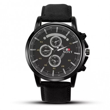 SOXY Leather Watch For Men Military Sports