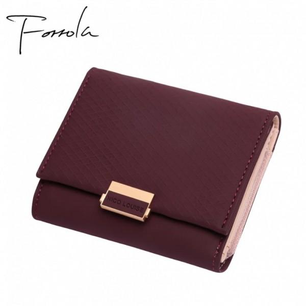 Female Leather Purse Plaid Wallet
