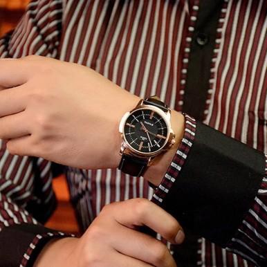 YAZOLE Rose Gold Wrist Watch Men 2019