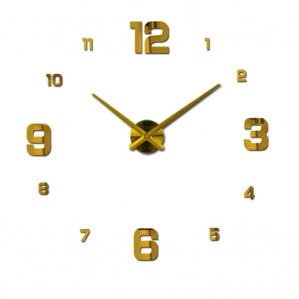 Large Wall Clock Watch 3D wall Clocks Home Decoration 3D wall stickers Living Room Home Decoration