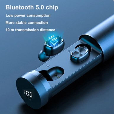 TWS Bluetooth Earphone 5.0 Wireless Headphones Waterproof Earbuds LED Display HIFI Sport Gaming Music Heasets With MIC