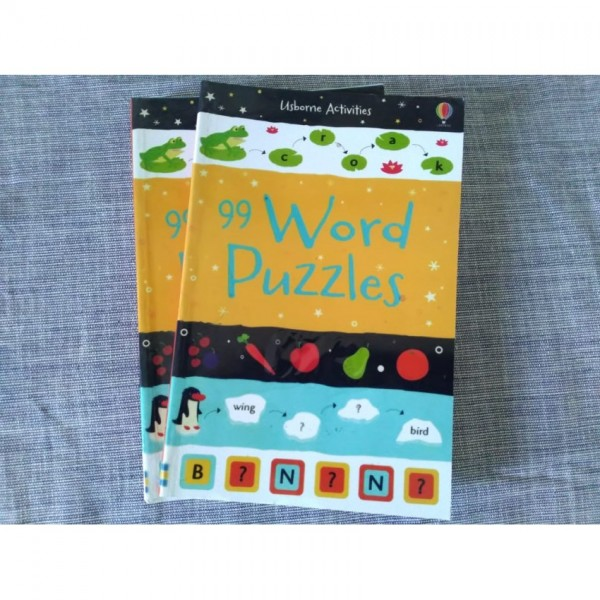99 words puzzles book by Usborne - Activity book for kids