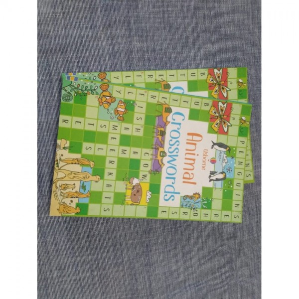 Animal Crosswords Book for Kids by Usborne