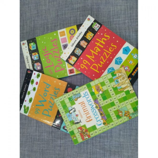 Pack of 4 Activity Books for Kids by Usborne