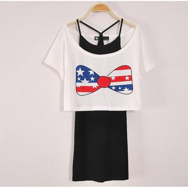 Two Piece Short body T-shirt