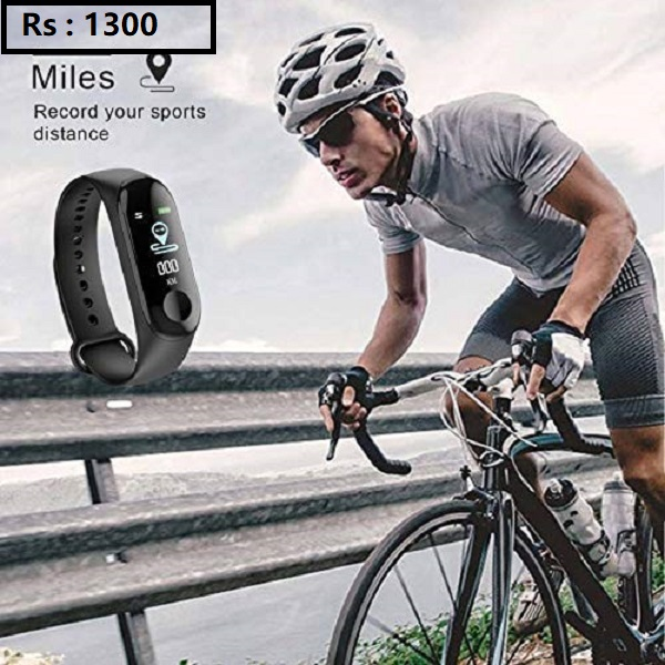 M3i Fitness Band with BP Heart Rate Calorie Count and Many More Other Function