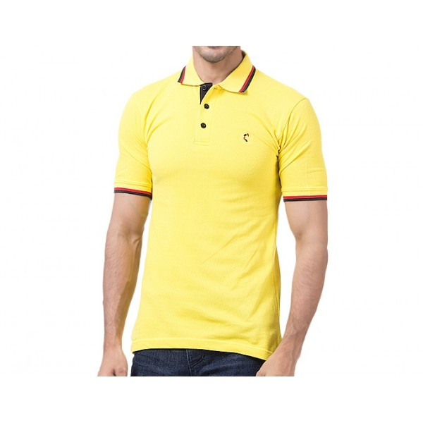 Yellow Cotton Polo Shirt Imported