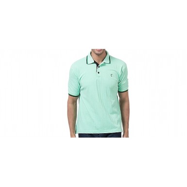 Green Cotton Polo Shirt Imported