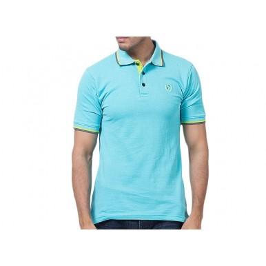 Blue Aqua Cotton Polo Shirt Imported