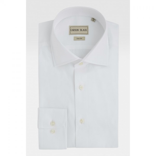 White Textured Shirt For Him A24