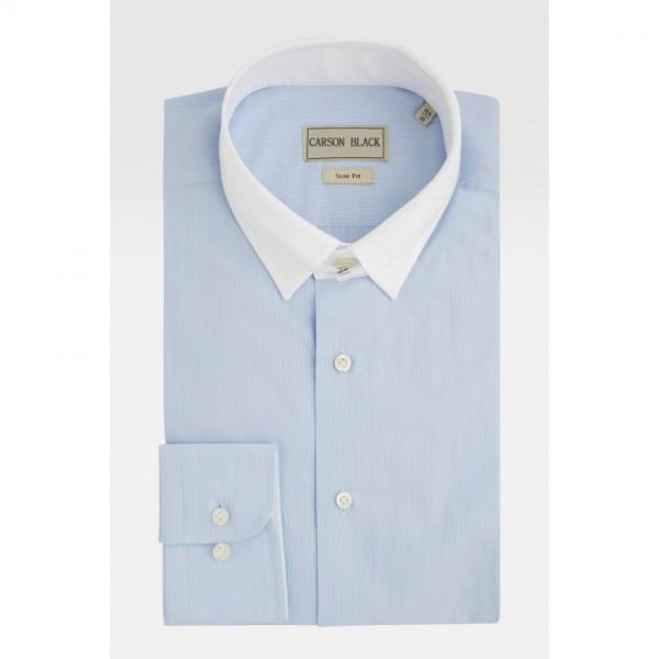Blue Micro Stripe Shirt For Him A4