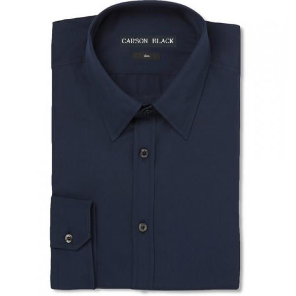 Cotton Dress Shirt for Men in Dark Blue