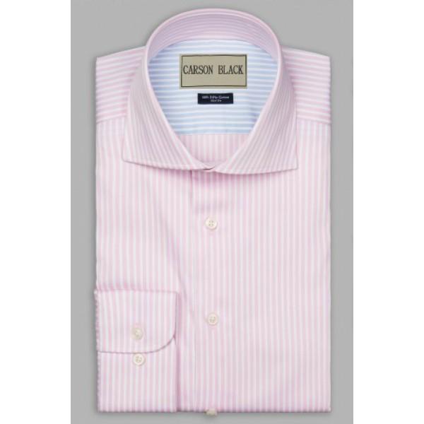 Pink Bar Stripe Shirt For Him A20