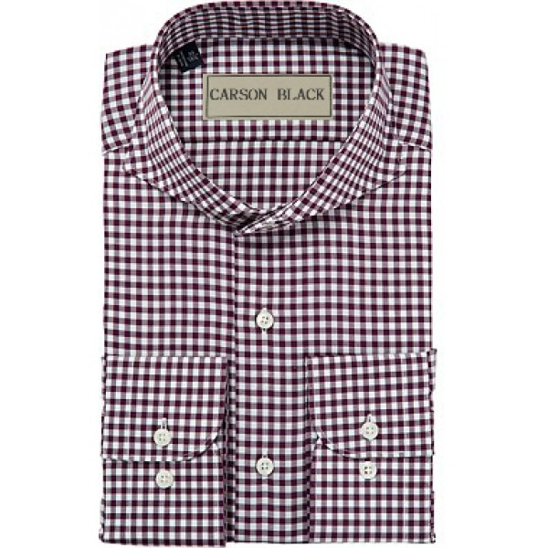 Purple Gingham Shirt For Him A22