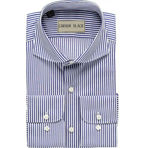 Light Black Bar Stripe Shirt For Him A12