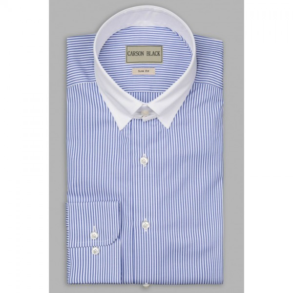 Light Mayfair Bar Stripe Shirt For Him A13