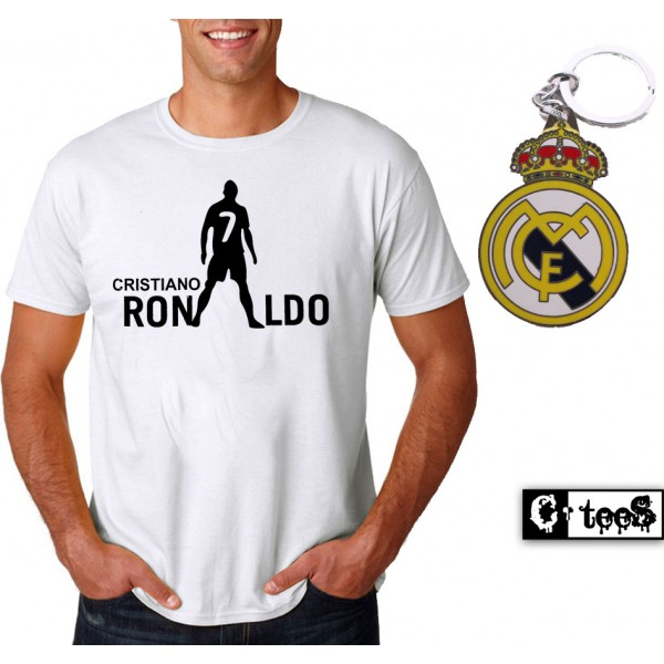 Cristiano Ronaldo T-Shirt And Metal Keychain