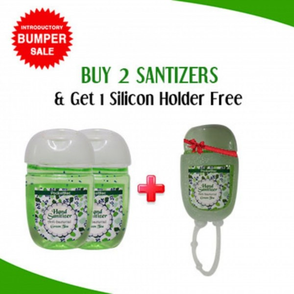 Buy 2 Hand Sanitizer Mini Cute Bottle Get 1 Slicon Holder Free By Karry and Kare