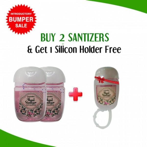 Buy 2 Hand Sanitizer Mini Cute Bottle Get 1 Slicon Holder Free