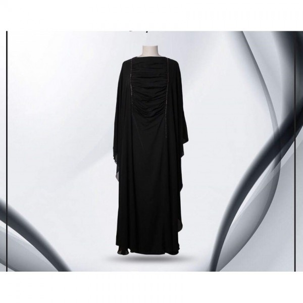 Crow Neck Butterfly Black Color Abaya Classic Collection