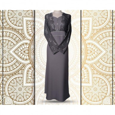 Beautiful Grey Color Fancy Wear Abaya