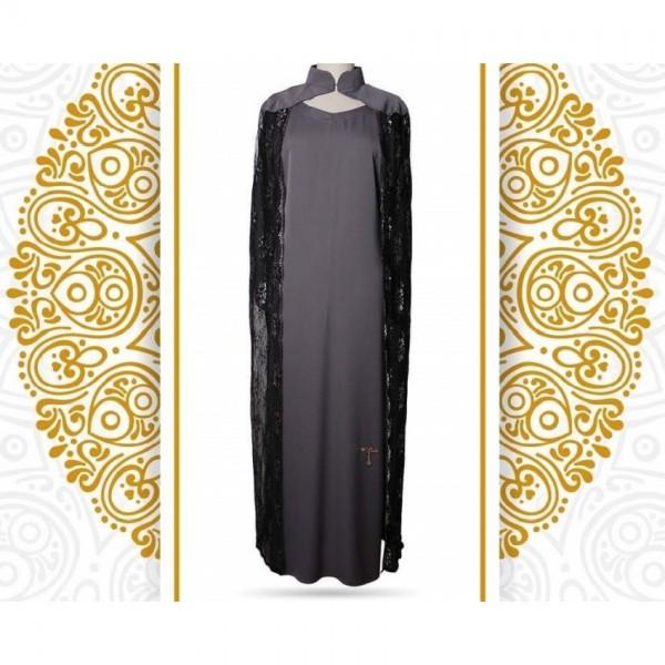 Abaya overlayer in Black Color