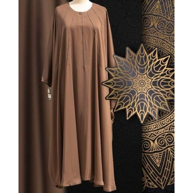 Brown Color Jilbabi maxi plintess