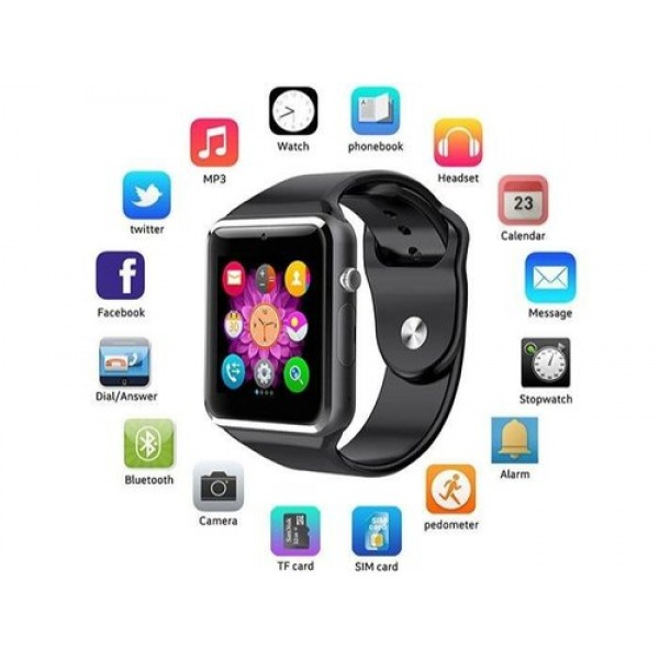 A1 WristWatch Bluetooth Smart Watch Fitness Pedometer Wear SIM Camera Smartwatch For Android