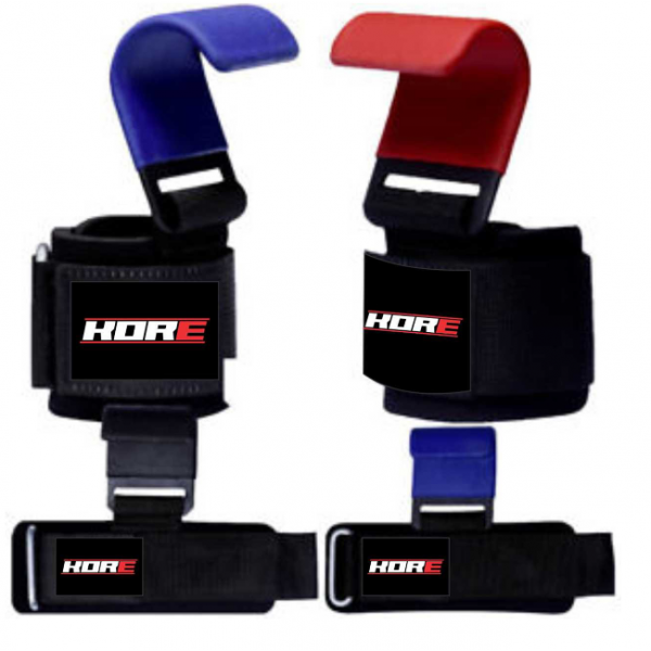 Weight Lifting Power Training Dip Hook Bar Gym Straps Wrist Support