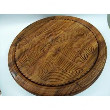 14 Wooden Dry Fruit Basket Antique Leaf Shape 5 Portion Original Collapsible Handicraft