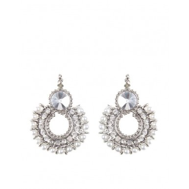 Silver Pearl Earrings for Her