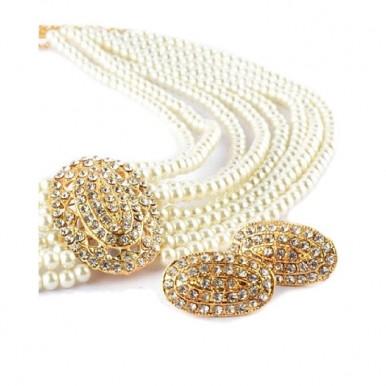 Pearl Jewellery Set Golden