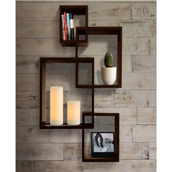 Intersecting Cube Shelf for home decor