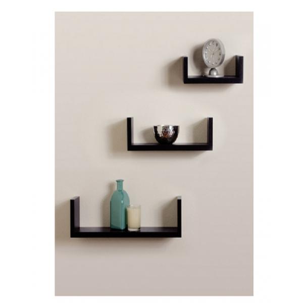 U-Shaped Wall Shelves - Set Of 3