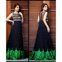 3 Piece Unstitched Chiffon Embroidered Frock - RSS30