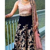 4 Piece UnStitched Body Style Chiffon Dress - SF021