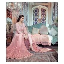 Unstitched 3 Piece Bridal Dress Pastel Peach for womens