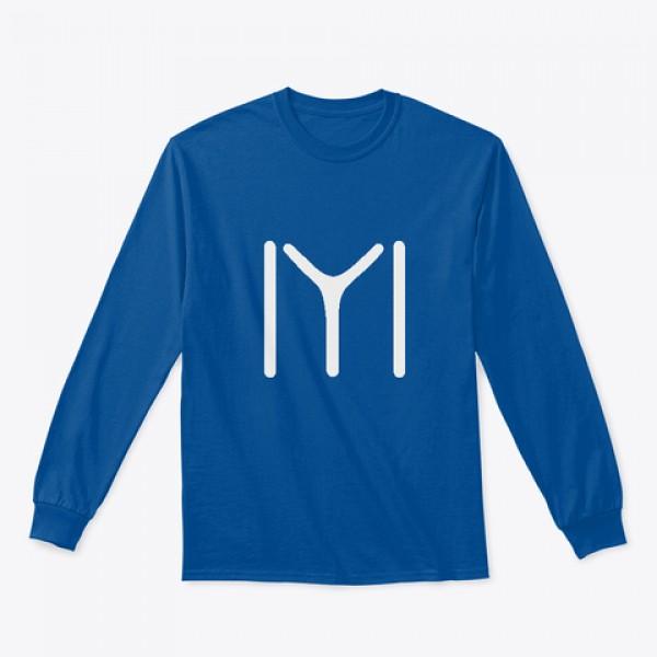 Royal Blue Full Sleeves Ertugrul Printed Cotton T shirt