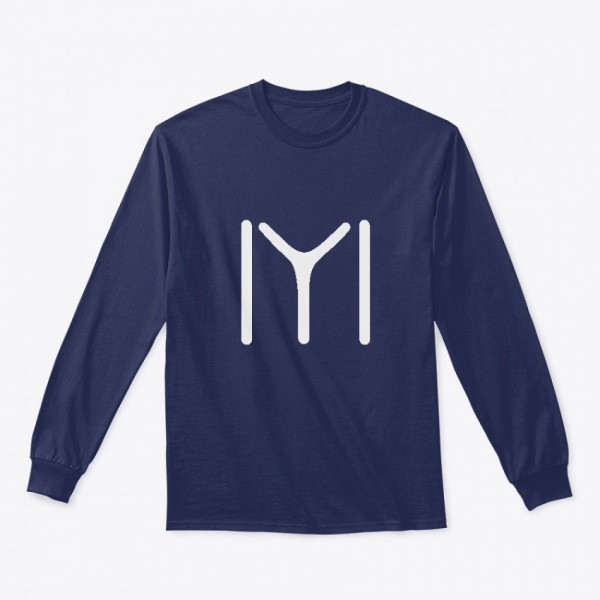 Navy Blue Ertugrul Printed Cotton T shirt For him