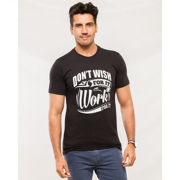 Black Don`t Wish Graphics T shirts for Men