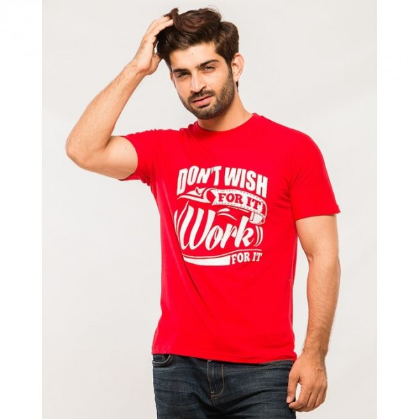 Red Don`t Wish Graphics T shirt for Him