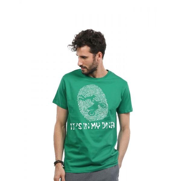 Green Biker Graphics T shirt