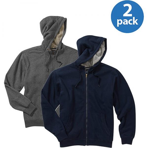 Pack of 02 Blue and Grey Mens Zipper Hoodies