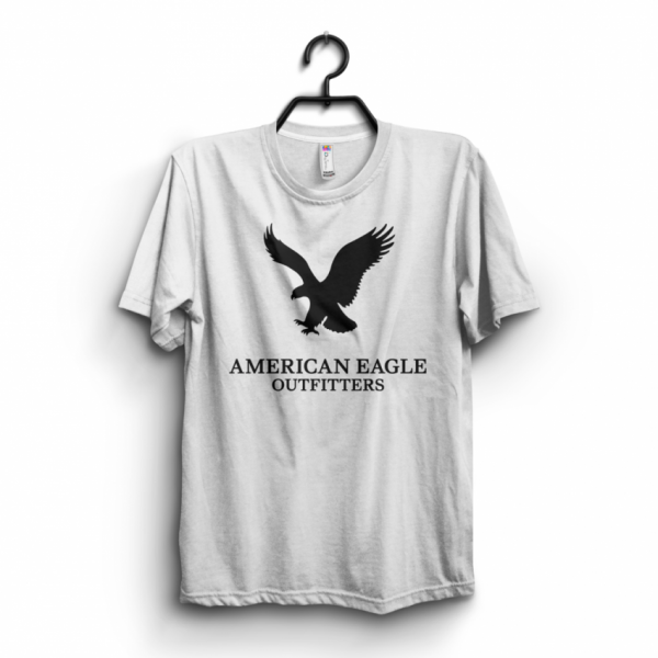 White American Eagle Printed Cotton T shirt For Him