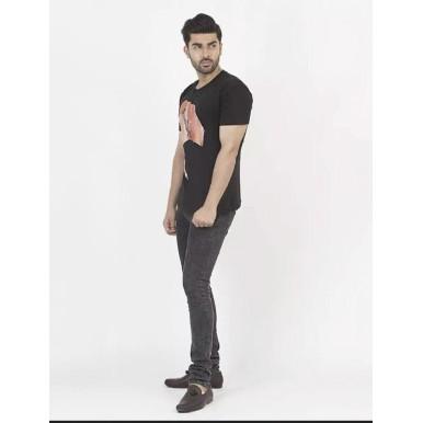 Black Lion King Printed T-Shirt for Men
