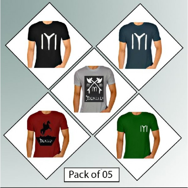 Pack of 05 Ertugrul Ghazi Printed Cotton T shirts